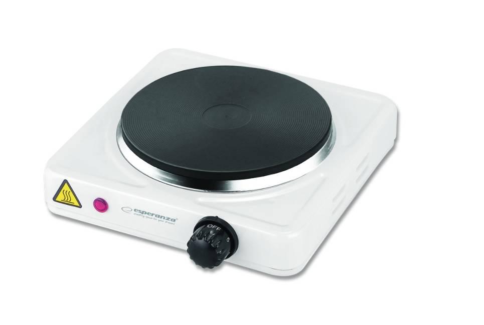Kuchenka elektryczna na prąd jednopalnikowa ST HELENS 1000W biała biały  SP   -> Kuchenka Elektryczna Oplaty Za Prąd