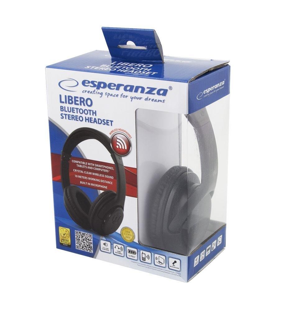Bezprzewodowe słuchawki bluetooth LIBERO czarne