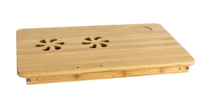 Regulowany Drewniany Stolik Pod Laptopa 15 Bambus