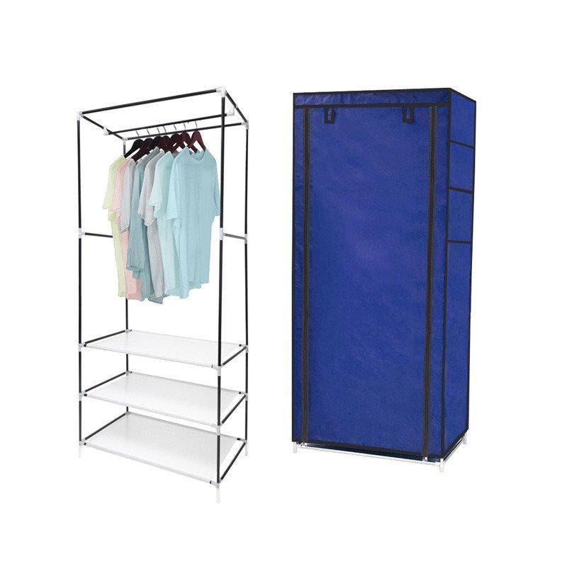 Szafa Na Ubrania Przenośna Garderoba 3 Półki